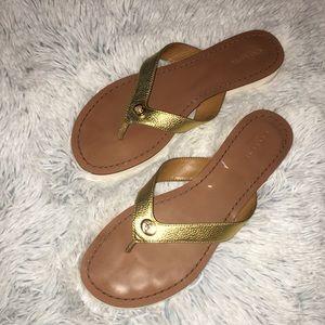 Coach flip flops thong sandals.